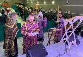 Патриарший экзарх всея Беларуси вознес молитвы об исцелении болящих в главном военном клиническом медицинском центре в Минске