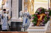 В канун праздника Благовещения Пресвятой Богородицы Святейший Патриарх Кирилл совершил всенощное бдение в Храме Христа Спасителя