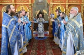 В праздник Благовещения Пресвятой Богородицы Патриарший экзарх всея Беларуси совершил Литургию в Ляденском монастыре в Минской области