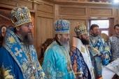 В праздник Благовещения Пресвятой Богородицы Предстоятель Украинской Православной Церкви совершил Литургию в киевском Пантелеимоновом монастыре в Феофании