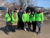 В праздник Благовещения добровольцы Петропавловской епархии раздали продукты и теплые вещи бездомным