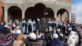 Патриарший экзарх всея Беларуси совершил освящение закладного камня в основание храма Благовещения Пресвятой Богородицы в Минске
