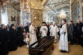 Наместник Троице-Сергиевой лавры и ректор Московской духовной академии совершили отпевание игумена Андроника (Трубачева)