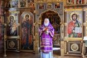В Неделю 4-ю Великого поста Святейший Патриарх Кирилл совершил Литургию в Александро-Невском скиту