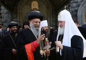 Благодарственное письмо Предстоятелю Русской Православной Церкви от Патриарха-Католикоса Эфиопии Абуны Матфия