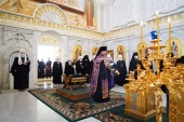 Holy Synod members commemorate Patriarch Irinej of Serbia and late archpastors of Russian Church