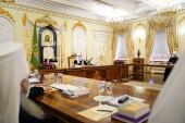 Святейший Патриарх Кирилл возглавил первое в 2021 году заседание Священного Синода