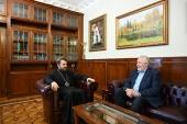 Митрополит Волоколамский Иларион встретился с председателем РОСХВЕ С.В. Ряховским
