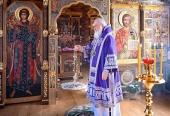В Неделю 5-ю Великого поста Святейший Патриарх Кирилл совершил Литургию в Александро-Невском скиту