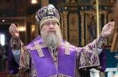 В Неделю 5-ю Великого поста глава Казахстанского митрополичьего округа совершил Литургию в Успенском кафедральном соборе г. Нур-Султана