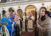 Иерарх Грузинской Церкви совершил Литургию в московском храме, где окормляется грузинская православная диаспора