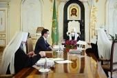 Святейший Патриарх Кирилл встретился с губернатором Нижегородской области Г.С. Никитиным и митрополитом Нижегородским и Арзамасским Георгием