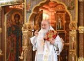 В Лазареву субботу Святейший Патриарх Кирилл совершил Литургию в Александро-Невском скиту