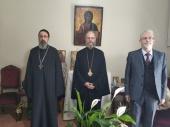 Митрополит Гор Ливанских Силуан встретился с настоятелем подворья Русской Православной Церкви в Бейруте