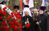 В 35-ю годовщину Чернобыльской аварии Патриарший экзарх всея Беларуси принял участие в церемонии возложения цветов к памятным знакам «Ахвярам Чарнобыля» и «Камень мира Хиросимы» в Минске