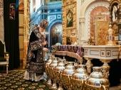 В Великий Четверток Предстоятель Русской Церкви совершил Литургию и чин освящения мира в Храме Христа Спасителя