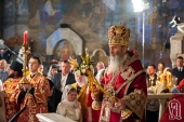 В праздник Светлого Христова Воскресения Блаженнейший митрополит Онуфрий возглавил богослужение в Киево-Печерской лавре