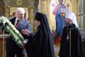 Президент Республики Беларусь передал в дар Белорусской Православной Церкви воссозданную святыню — напрестольный Туровский крест