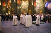 В Главном храме Вооруженных сил России впервые совершены Пасхальные богослужения