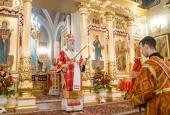 В день памяти блаженной Матроны Московской праздничные богослужения в Покровском ставропигиальном монастыре возглавил архиепископ Каширский Феогност