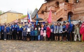 На Крутицком подворье в Москве состоялась акция «Георгиевский парад — дети победителей»