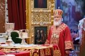 В четверг Светлой седмицы Святейший Патриарх Кирилл совершил Литургию в Храме Христа Спасителя