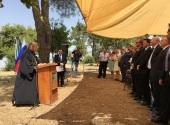 Секретарь Русской духовной миссии в Иерусалиме принял участие в мемориальном акте в честь Дня Победы