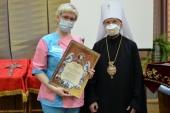 Патриарший экзарх всея Беларуси наградил медицинских работников города Борисова за самоотверженный труд в борьбе с коронавирусной инфекцией