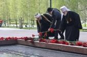 Митрополит Крутицкий Павел принял участие в церемонии возложения цветов к могиле Неизвестного солдата в составе делегации Московской области
