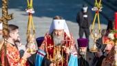 В День Победы Блаженнейший митрополит Онуфрий совершил заупокойную литию в Парке Вечной Славы в Киеве