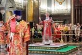 В Неделю святых жен-мироносиц Святейший Патриарх Кирилл совершил Литургию в Храме Христа Спасителя