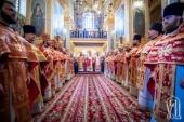 В день памяти апостола Иоанна Богослова Предстоятель Украинской Православной Церкви совершил праздничные богослужения в Зимненском монастыре на Волыни