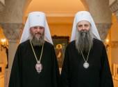 Святейший Патриарх Сербский Порфирий встретился с управляющим делами Украинской Православной Церкви