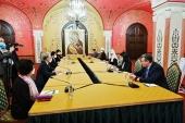 Ο Αγιώτατος Πατριάρχης Κύριλλος συναντήθηκε με τον πρόεδρο της Βουλής της Νότιας Κορέας