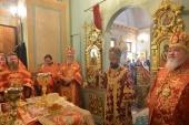 Митрополит Волоколамский Иларион совершил Литургию на московском подворье Православной Церкви Чешских земель и Словакии
