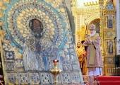 В день памяти святителя Николая Чудотворца Святейший Патриарх Кирилл совершил Божественную литургию в Храме Христа Спасителя в Москве