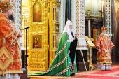 Патриаршая проповедь в день памяти святителя Николая Чудотворца после Литургии в Храме Христа Спасителя