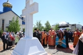 Освящен поклонный крест в память святых Акмолинских новомучениц, пострадавших за Христа в лагере АЛЖИР