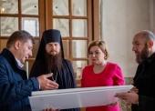 Министр культуры России О.Б. Любимова посетила Высоко-Петровский ставропигиальный монастырь