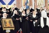 Женский хор Санкт-Петербургской митрополии выступил в Морском соборе Кронштадта