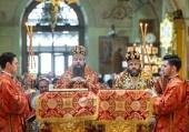Митрополит Воскресенский Дионисий возглавил торжества по случаю дня памяти святителя Алексия Московского в Богоявленском кафедральном соборе г. Москвы