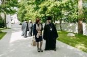 Успенский Жировичский монастырь посетила председатель Совета Республики Национального собрания Белоруссии Наталья Кочанова