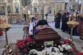Митрополит Астанайский Александр совершил литию у гроба новопреставленного архиепископа Чимкентского Елевферия