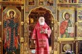 В Неделю 6-ю по Пасхе Святейший Патриарх Кирилл совершил Литургию в Александро-Невском скиту