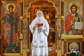 В праздник Вознесения Господня Святейший Патриарх Кирилл совершил Литургию в Александро-Невском скиту