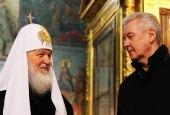 Поздравление Святейшего Патриарха Кирилла мэру Москвы С.С. Собянину с Днем России