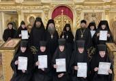 В Троице-Одигитриевском монастыре Зосимова пустынь состоялся выпуск первой группы слушательниц богословских курсов для монашествующих