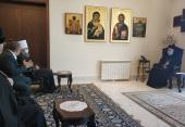 Управляющий делами Украинской Православной Церкви встретился с митрополитом Бейрутским Илией