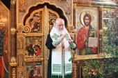 В канун праздника Святой Троицы Святейший Патриарх Кирилл совершил всенощное бдение в Александро-Невском скиту