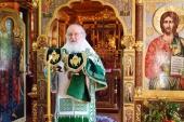 В праздник Святой Троицы Святейший Патриарх Кирилл совершил Божественную литургию